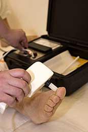 Prístrojové vyšetrenie poškodenia nervových vlákien pri cukrovke